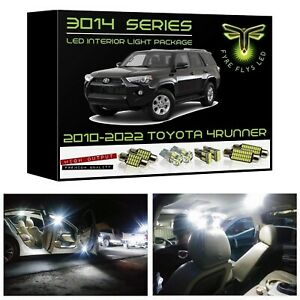 White Led Interior Lights Package Kit For 2010 2020 Toyota 4runner 3014 Smd tool