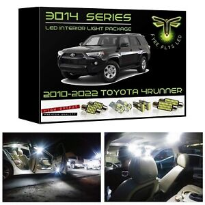 White Led Interior Lights Package Kit For 2010 2019 Toyota 4runner 3014 Smd tool