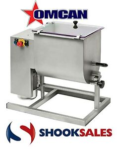 Omcan 37459 Heavy Duty Commercial Stainless Steel Meat Mixer 1 Hp 66 Lb Capacity