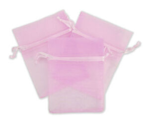 Jewelry Organza Bag Pouches Small Item Retail Display Store Pink Lot Of 500 New