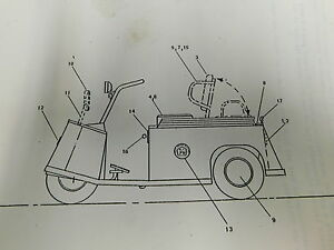 Taylor Dunn Electric Personnel Carrier Service Parts Repair Manual e1 2129