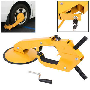Parking Boot Car Tire Claw Wheel Clamp Rv Anti Theft Lock Universal For Honda Vw