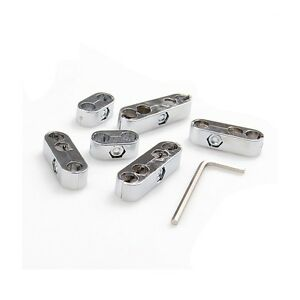 6pcs Car 7mm 8mm Chrome Spark Plug Wire Separators Dividers Looms For Chevy Ford