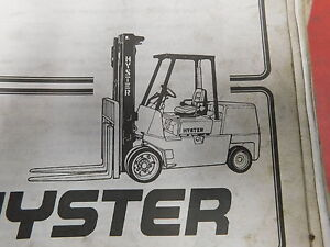 Hyster Spacesaver S70 155xl S3 50 7 0xl Forklift Service Parts Manual e13 2210