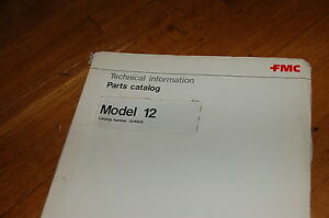 Fmc Model 12 Wayne Street Sweeper Spare Parts Manual Book Catalog 1977 List 1976