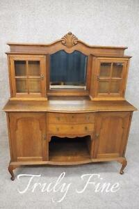 French Louis Xvi Country Oak Sideboard Buffet Original Condition Antique