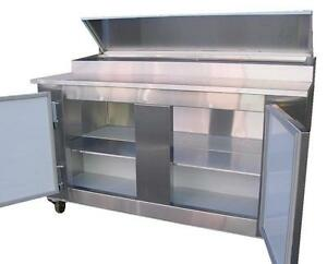Coolman Commercial 2 Door Refrigerated Pizza Prep Table 60