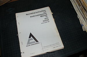 Allis Chalmers Hd 11e Tractor Crawler Dozer Owner Operator Operation Manual Book