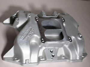 New In The Box Edelbrock 2186 Performer Intake Manifold 383 400 Stock Heads
