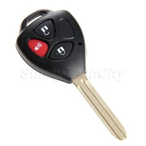 Remote Key Fob Keyless Entry Shell Case Uncut Blank For Toyota Rav4 2006 2010
