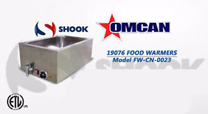 Omcan Fw cn 0023 19076 Single Chamber Food Soup Chili Cheese Warmer W Drain
