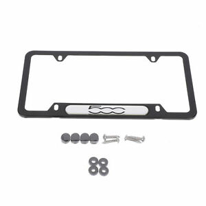 2013 2018 Fiat 500 Satin Black License Plate Frame Oem Mopar Genuine 82213494ab