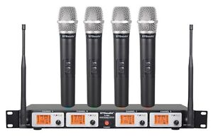 GTD Audio 4 Channel UHF Handheld Wireless Microphone System Mic Brand New 504H $169.00