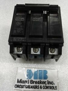 Ge Thql32100 Ge 3 Pole 100 Amp 240 Volt Circuit Breaker new