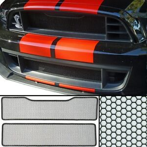 Ccg Flat Black Grill Grille Mesh Insert Kit For A 2013 14 Ford Mustang Gt500
