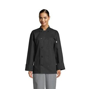 Classic 10 Button Chef Coat Black Xs To 3xl 0402 Free Shipping