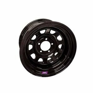 Bart Wheels 15 X8 D Trucker Black Steel Wheel 6x5 5 Bolt Pattern Set Of 4
