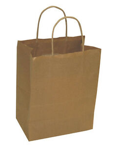 Recycled Wholesale Paper Shopping Bags Retail Packaging Kraft Lot Of 250 New