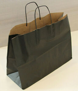 Colorful Vogue Paper Shopping Carry Bags Merchandise Store Black Lot Of 250 New