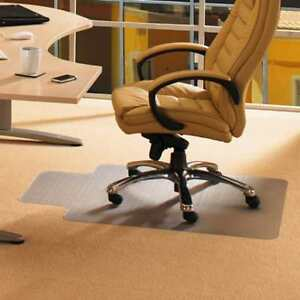 Cleartex 36 X 48 Office Computer Desk Chair Mat With Lip For Low Pile Carpets