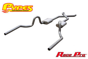 1964 1977 Chevelle Pypes 3 Stainless Exhaust System W Race Pro Mufflers X pipe