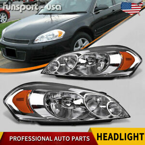 For 06 07 Monte Carlo 2009 2013 Chevy Impala Headlights Replacement Headlamps Us