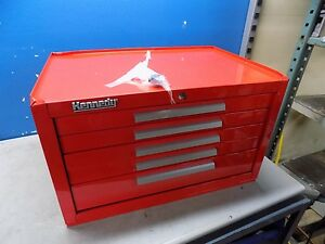 Kennedy Tool Chest 5 Drawer Red 285xr