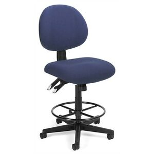 Ofm 24 Hour Computer Task Stool With Drafting Kit Blue