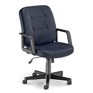 Ofm Executive conference Low back Leather Chair Navy