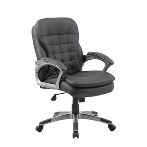 Boss Executive Mid Back Pillow Top Chair