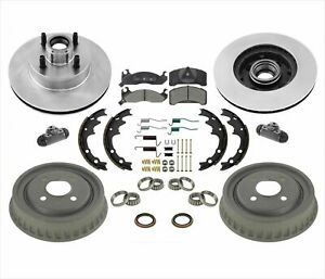 Rotors Brake Pads Drums Shoes Springs Kit Cylinders For Ford Mustang 2 3l 87 93