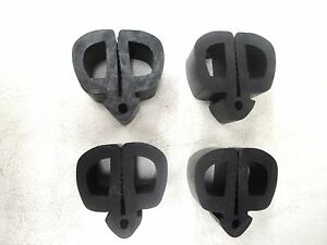 66 67 66 1967 Ford Fairlane Rubber Hood Bumper Set 4 Pieces New