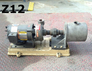 Ingersoll rand 1 1 4x4 Centrifugal Water Pump W mixing Chamber 316ss 1hp