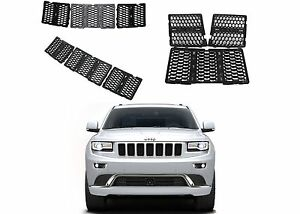 7pc Black Mesh Grill Inserts For 2014 2016 Jeep Grand Cherokee New Free Shipping