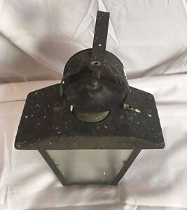 Vintage Mid Century Copper Porch Sconce Wall Light Fixture Old 50 S 11 17j
