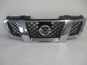 Oem 09 14 Nissan Frontier Front Chrome Grill Grille With Emblem 62310zl00b