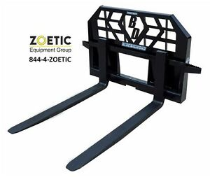 Blue Diamond Heavy Duty Pallet Forks Skid Steer Attachment 5000 Lb Capacity