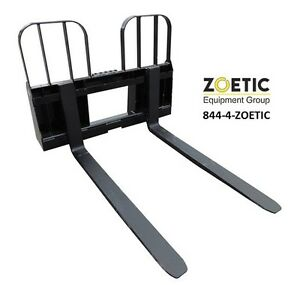 Blue Diamond Walk Through Pallet Forks Skid Steer Attachment 5000 Lb Capacity