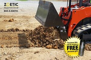 Blue Diamond Skid Steer 4 in 1 Bucket Attachment 72