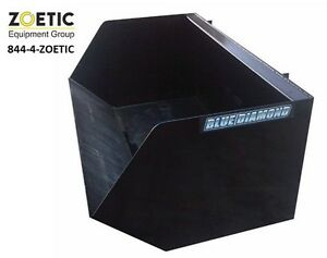 Blue Diamond Skid Steer Dumpster Bucket Attachment 72 Wide