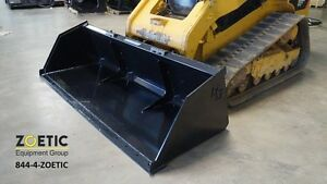 Blue Diamond Snow Mulch Standard Duty Bucket Skid Steer Attachment 90