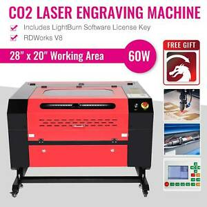 Laser Engraving Machine Engraver Cutter 60w Co2 W Usb Interface New