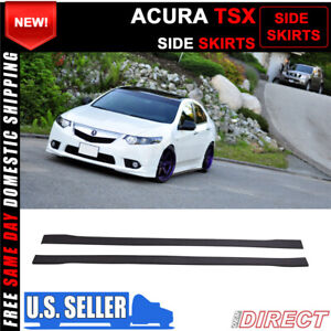 For 09 14 Acura Tsx Side Skirts Extensions Splitters Pp