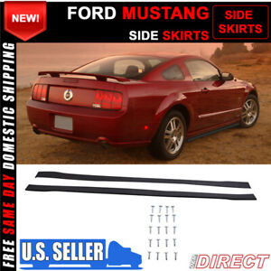 Fits 05 09 Ford Mustang Carbon Textured Side Skirts Rocker Pannel Extensions Pp