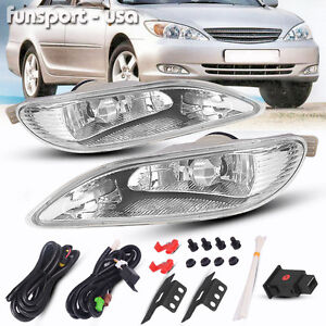 For 2005 2008 Toyota Corolla Bumper Lamp Clear Fog Light Pair switch Wiring Kit