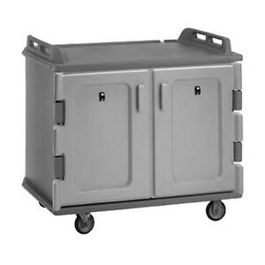 Cambro Mdc1418s20192 48 1 2 2 Compartment Meal Delivery Cart granite Green