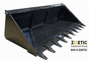 Blue Diamond Skid Steer Utility Bucket Attachment 72 Tooth