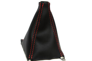 Manual Shift Boot Leather Synthetic For Acura Integra 90 93 Red Stitch
