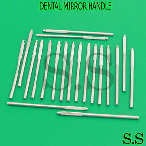 Brand New Set Of 20 Pc Dental Mirror Handle Stainless Steel Dental Instruments