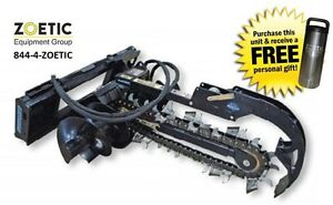 Blue Diamond Trencher Skid Steer Attachment 36 With 4 Combo Chain